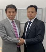 ミャンマーの人材送り出し機関のMIN(ミン)社長(右)